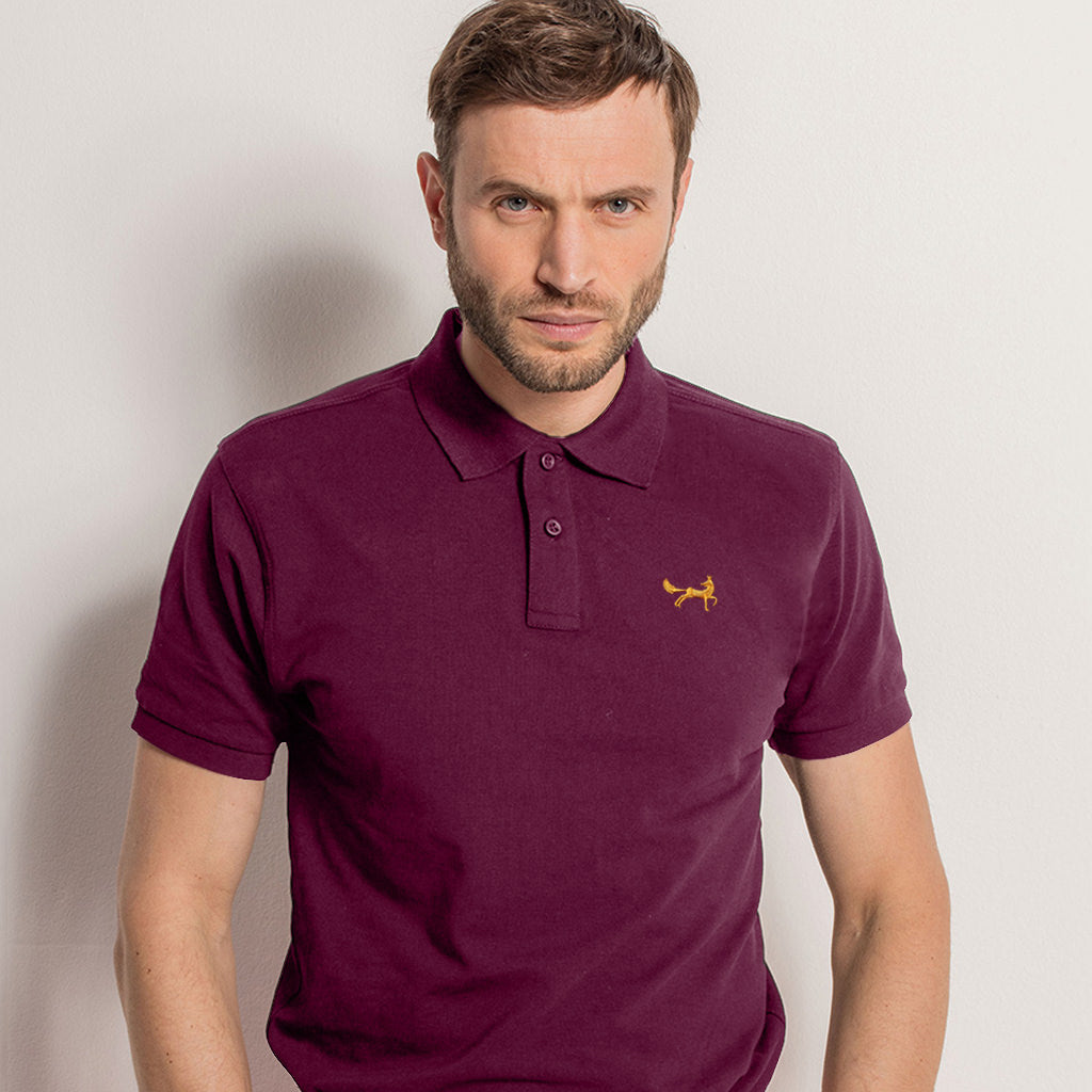 Men's Classic Piqué Polo Shirt In Plum