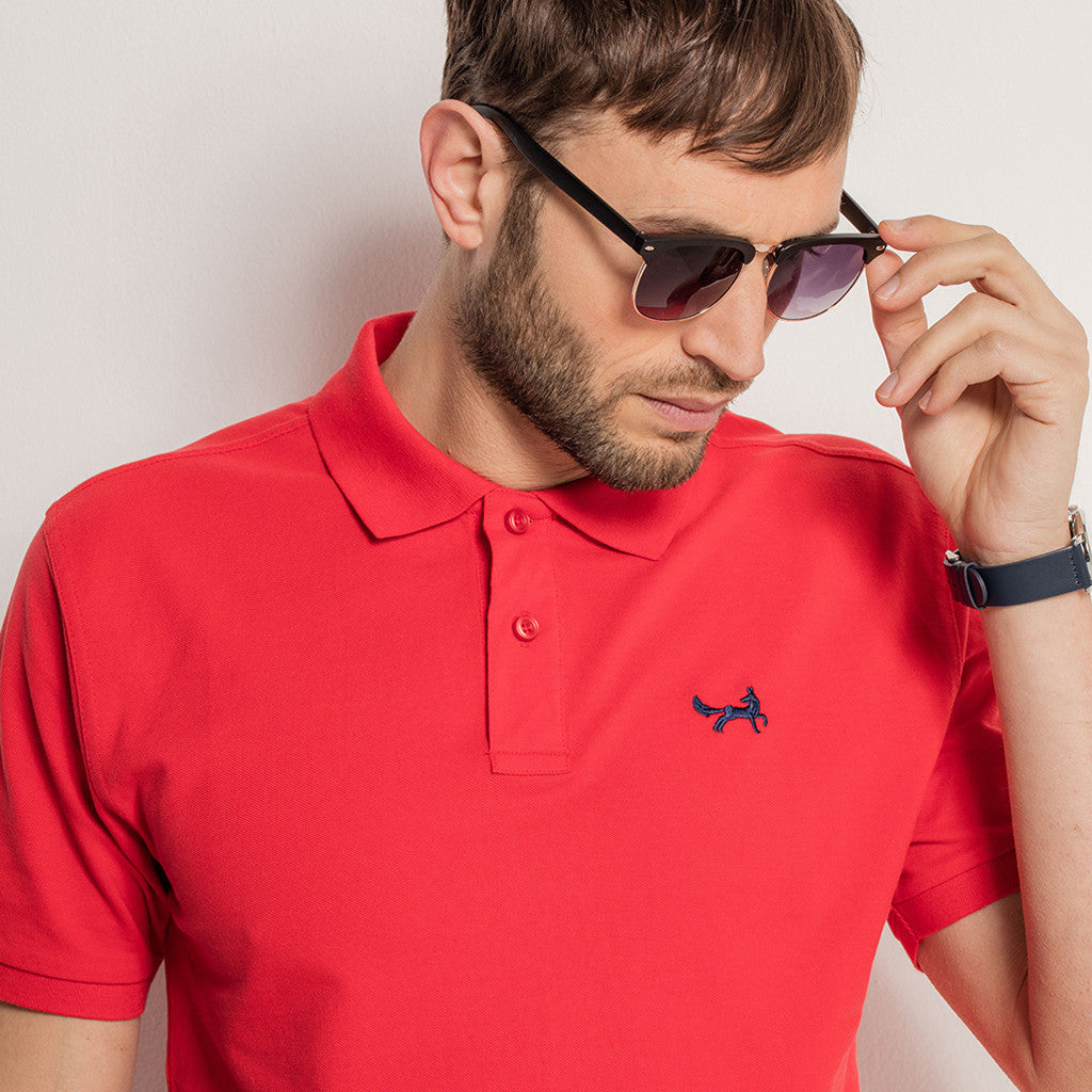 Men's Classic Piqué Polo Shirt In Red