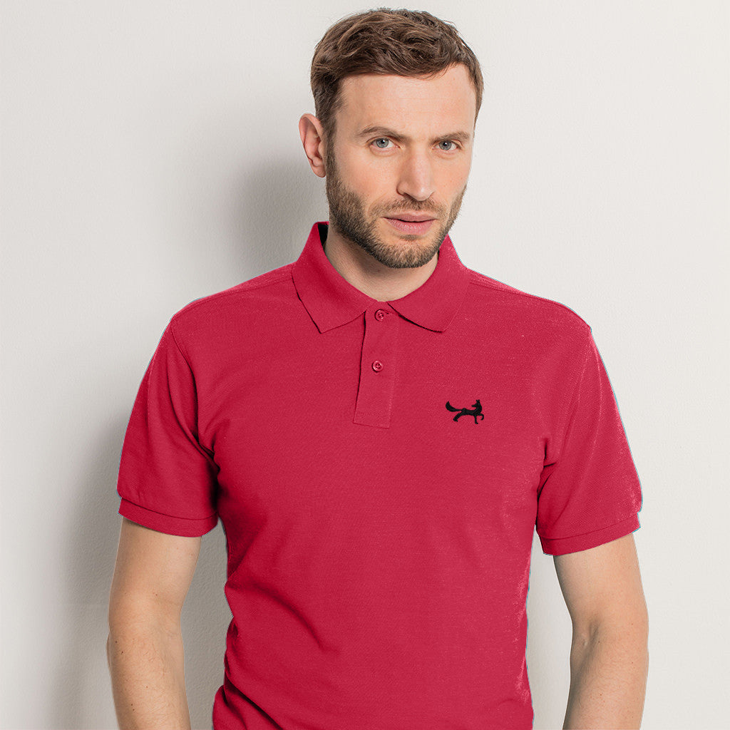 Men's Classic Piqué Polo Shirt In Red Heather