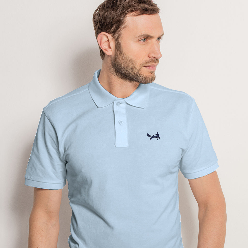 Men's Classic Piqué Polo Shirt In Sky