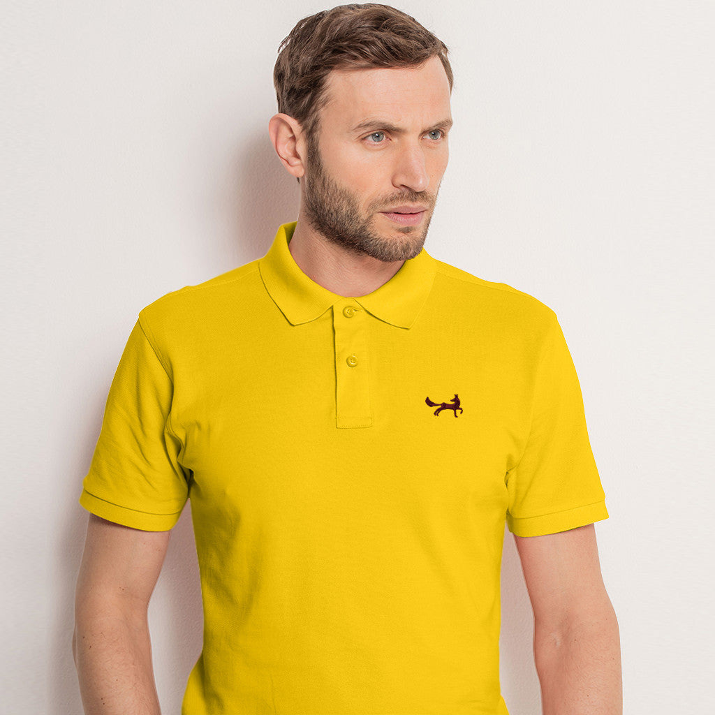 Men's Classic Piqué Polo Shirt In Sunflower