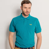 Men's Classic Piqué Polo Shirt In Teal Heather