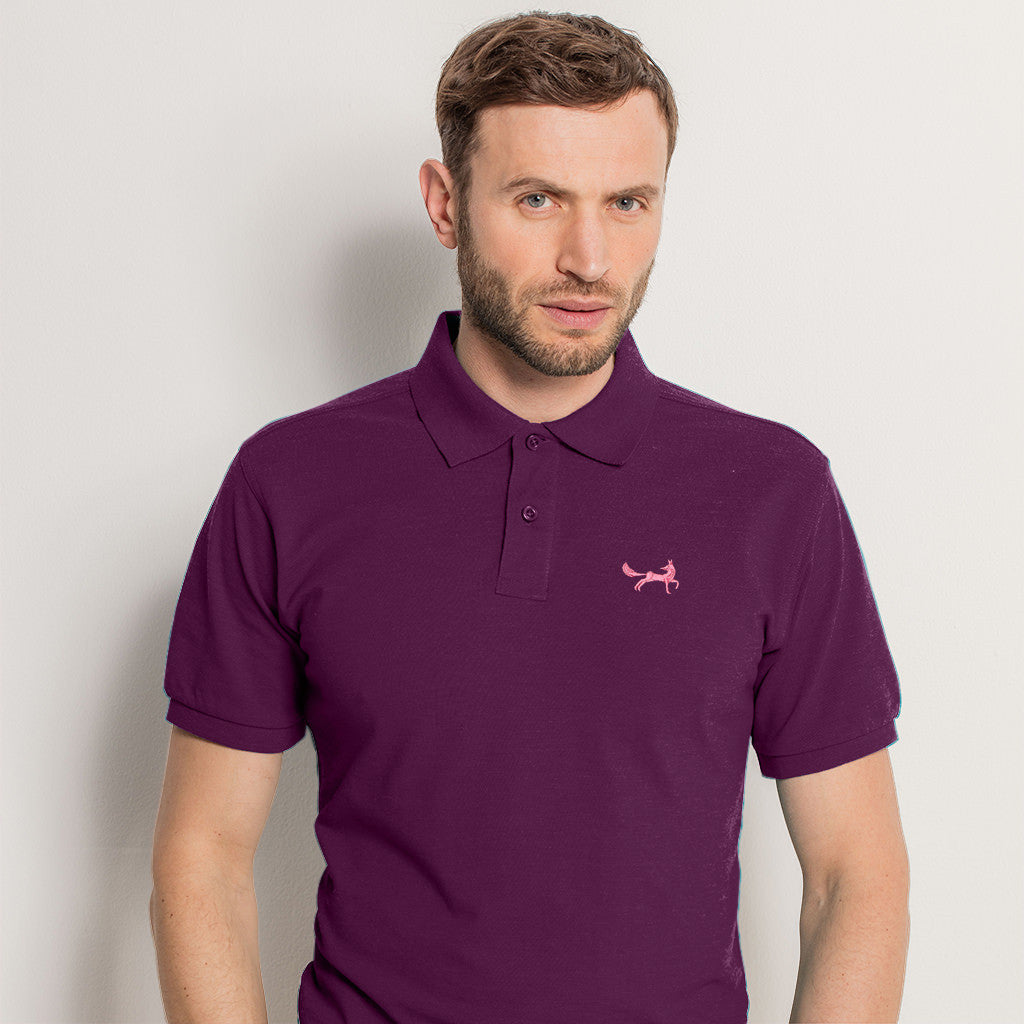 Men's Classic Piqué Polo Shirt In Vintage Washed Purple