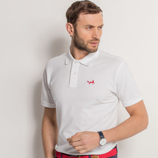 Men's Classic Piqué Polo Shirt In White