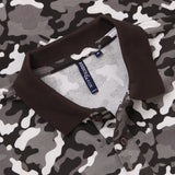 Men's Camo Pique Polo In Grey