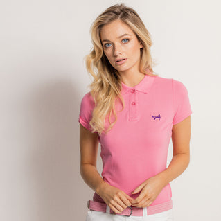 Women's Classic Piqué Polo Shirt In Pink Carnation