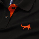Asquith & Fox Womens Contrast Collar Polo In Black and Orange
