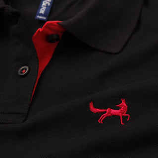 Asquith & Fox Womens Contrast Collar Polo In Black and Red