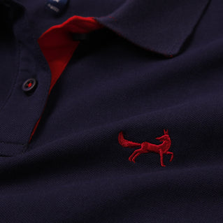 Asquith & Fox Womens Contrast Collar Polo In Navy and Red