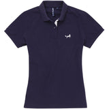 Asquith & Fox Womens Contrast Collar Polo In Navy and White