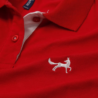 Asquith & Fox Womens Contrast Collar Polo In Red and White