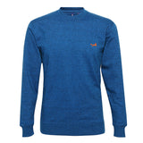Asquith & Fox Men's Twisted Yarn Sweatshirt In Sapphire and Black