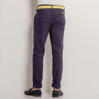 Asquith & Fox Mens Slim Fit Cotton Chino In Navy