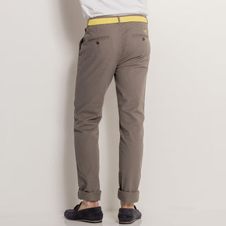 Asquith & Fox Mens Slim Fit Cotton Chino In Slate