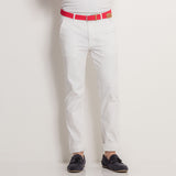 Asquith & Fox Mens Slim Fit Cotton Chino In White