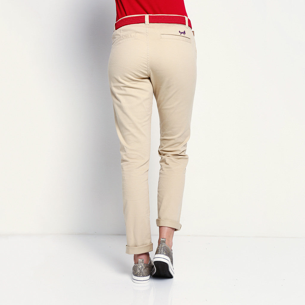 Asquith & Fox Women's Classic Chino In Natural