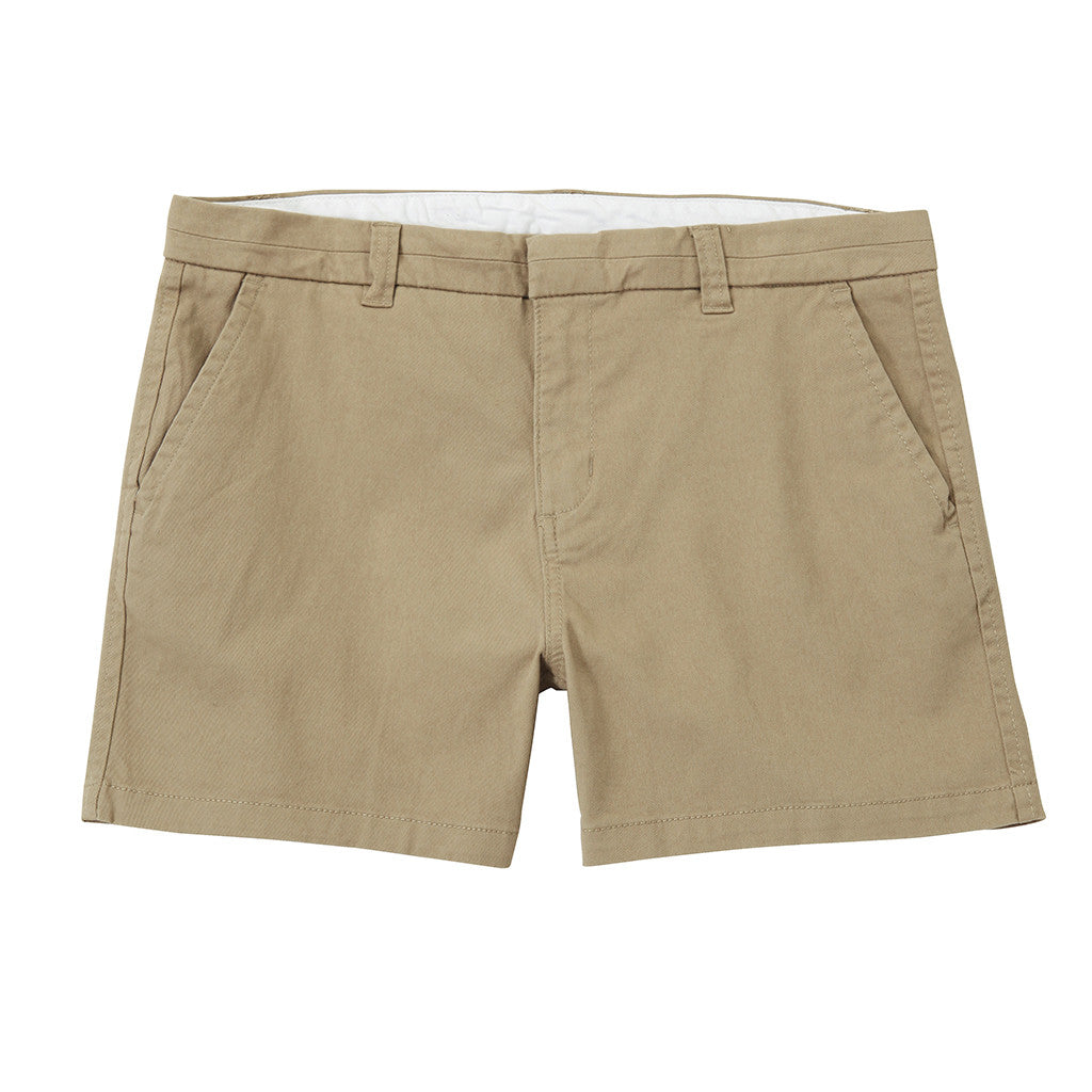 Asquith & Fox Women's Classic Chino Shorts In Khaki