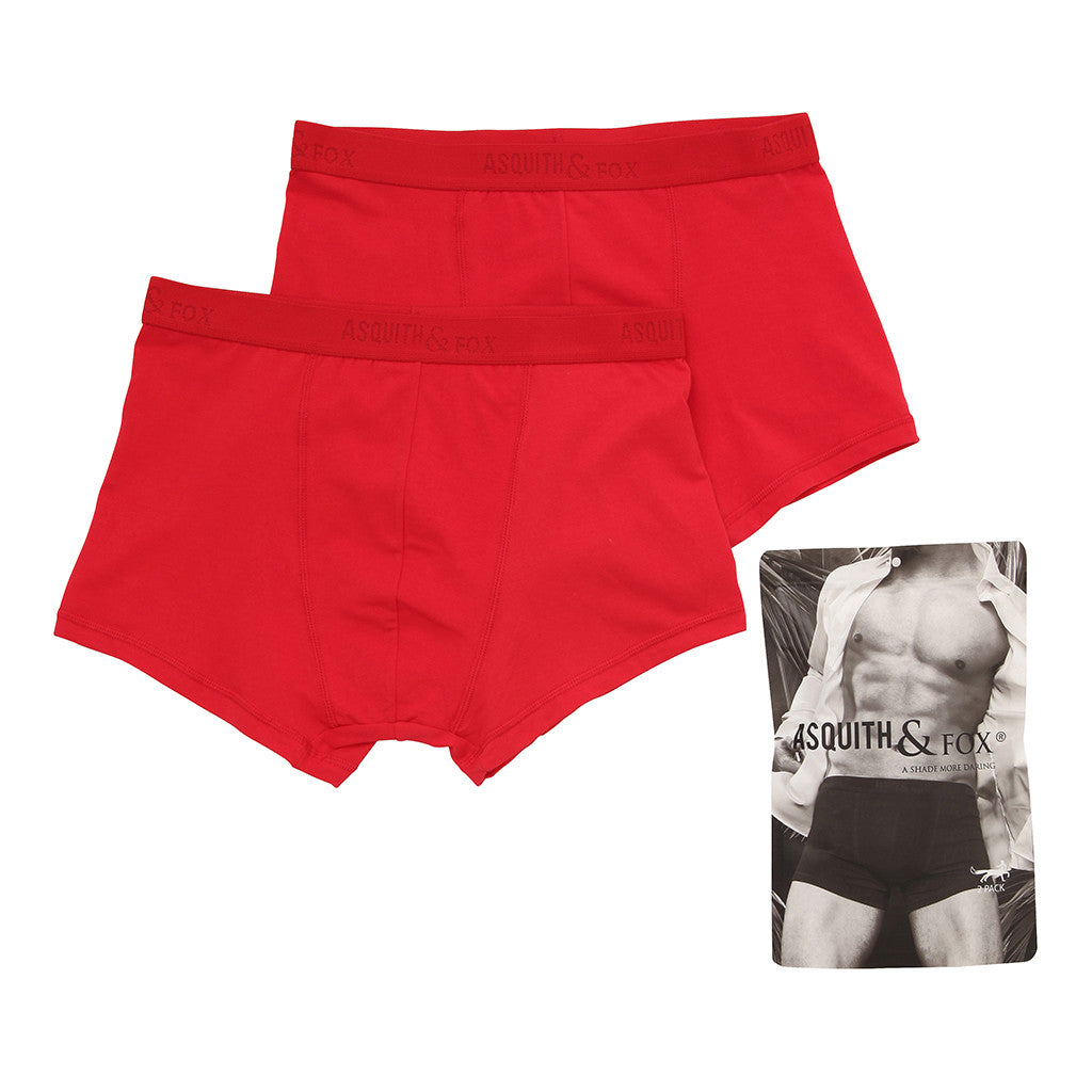 Asquith & Fox Men's Trunks In Red (2 Pack)
