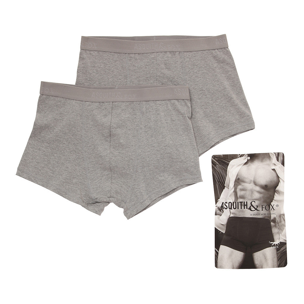 Asquith & Fox Men's Trunks In Grey Heather (2 Pack)