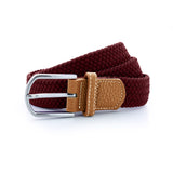 Asquith & Fox Unisex Woven Elasticated Belt In Burgundy