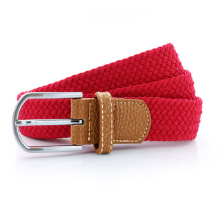 Asquith & Fox Unisex Woven Elasticated Belt In Cherry Red