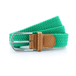 Asquith & Fox Unisex Woven Elasticated Belt In Kelly