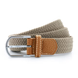 Asquith & Fox Unisex Woven Elasticated Belt In Khaki