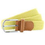 Asquith & Fox Unisex Woven Elasticated Belt In Lemon Zest