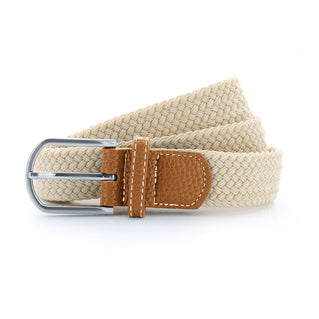 Asquith & Fox Unisex Woven Elasticated Belt In Natural