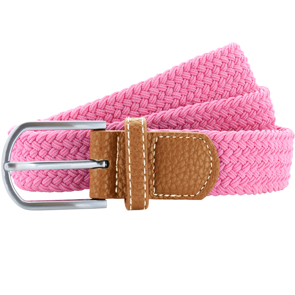 Asquith & Fox Unisex Woven Elasticated Belt In Pink Carnation