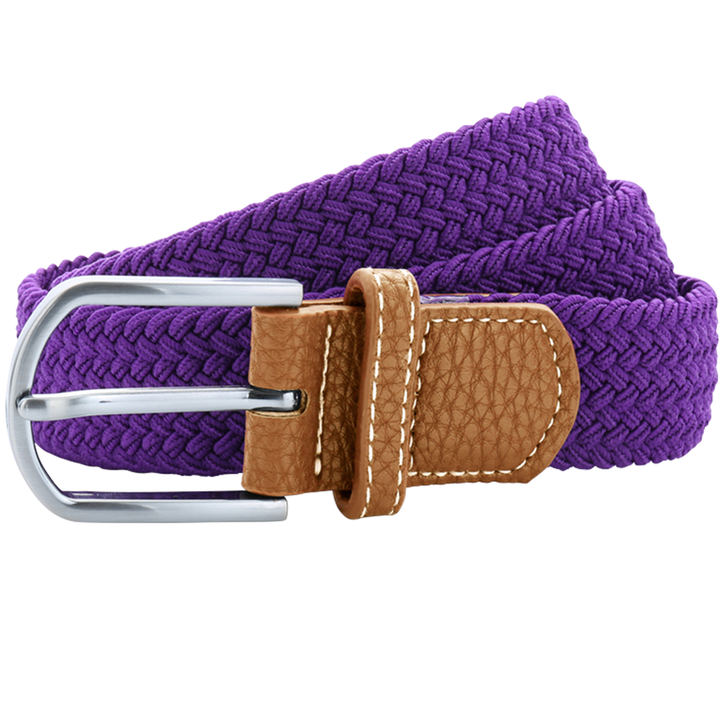 Asquith & Fox Unisex Woven Elasticated Belt In Purple