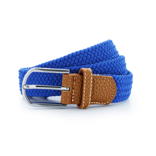 Asquith & Fox Unisex Woven Elasticated Belt In Royal