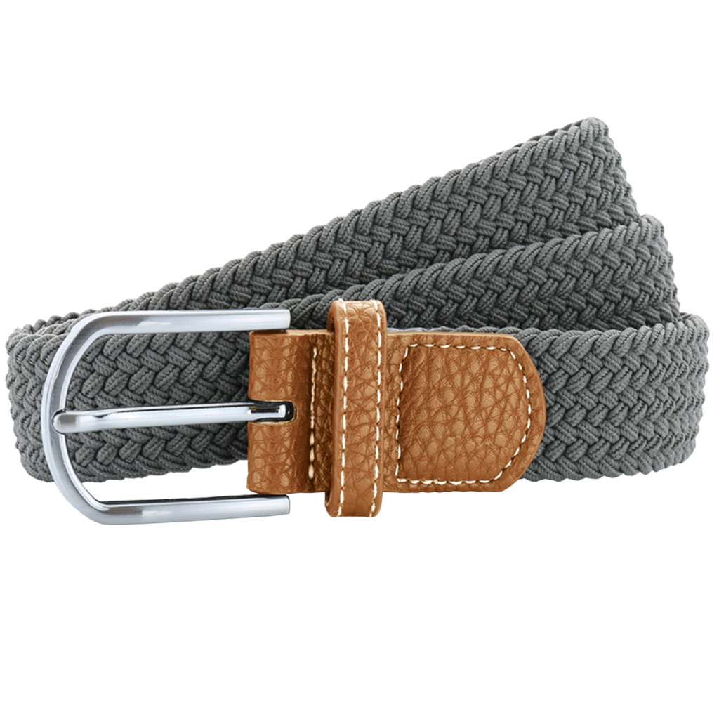 Asquith & Fox Unisex Woven Elasticated Belt In Slate