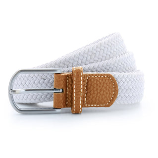 Asquith & Fox Unisex Woven Elasticated Belt In White
