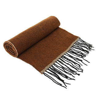 Asquith & Fox Unisex Two Tone Soft Feel Scarf In Brown