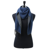 Asquith & Fox Unisex Two Tone Soft Feel Scarf In Navy