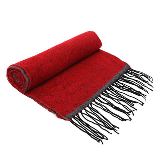 Asquith & Fox Unisex Two Tone Soft Feel Scarf In Red