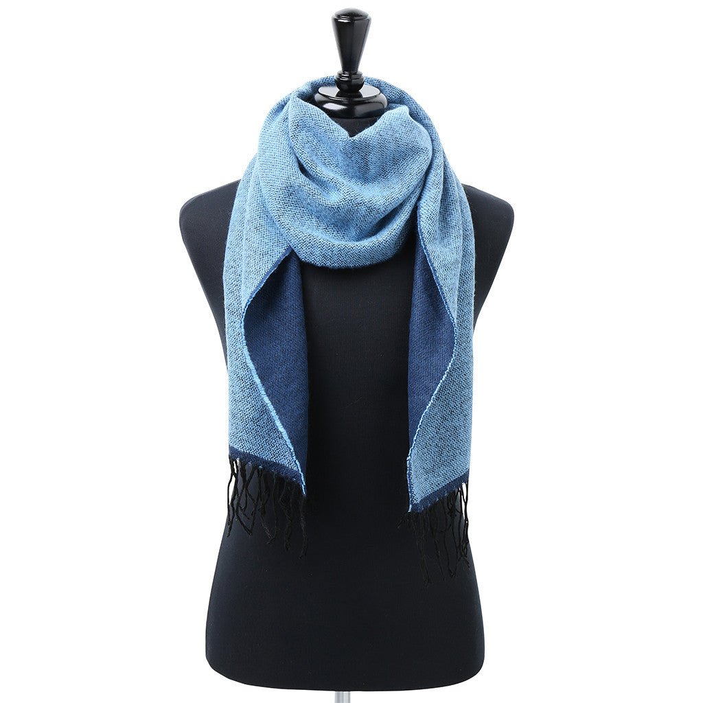 Asquith & Fox Unisex Two Tone Soft Feel Scarf In Sky