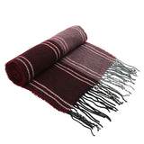 Asquith & Fox Unisex Stripe Soft Feel Scarf In Burgundy