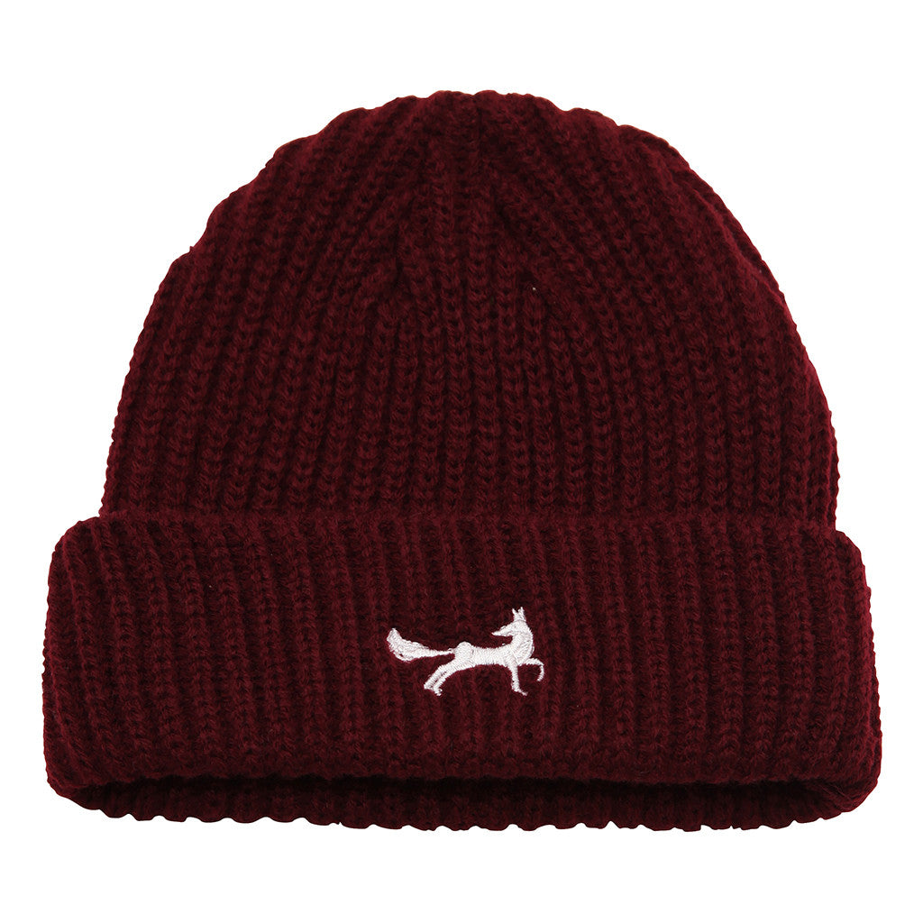 Asquith   Fox Unisex Fisherman Beanie In Burgundy 50e2be48371