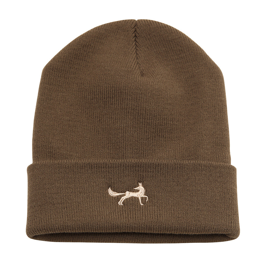 Asquith & Fox Unisex Knitted Beanie In Olive Green