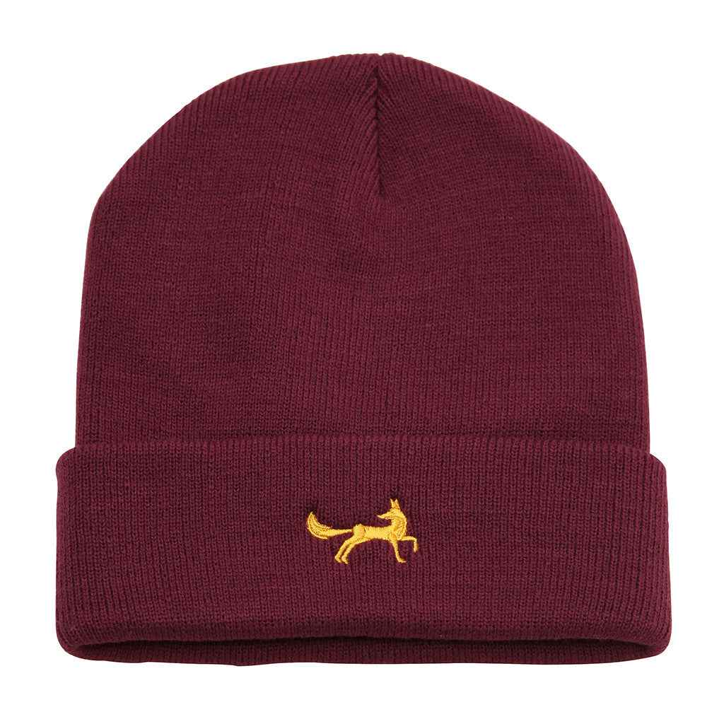 Asquith & Fox Unisex Knitted Beanie In Plum