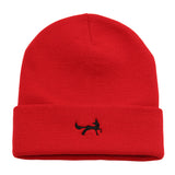 Asquith & Fox Unisex Knitted Beanie In Red