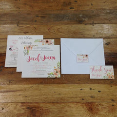 3-Paged Semi-Square Invites