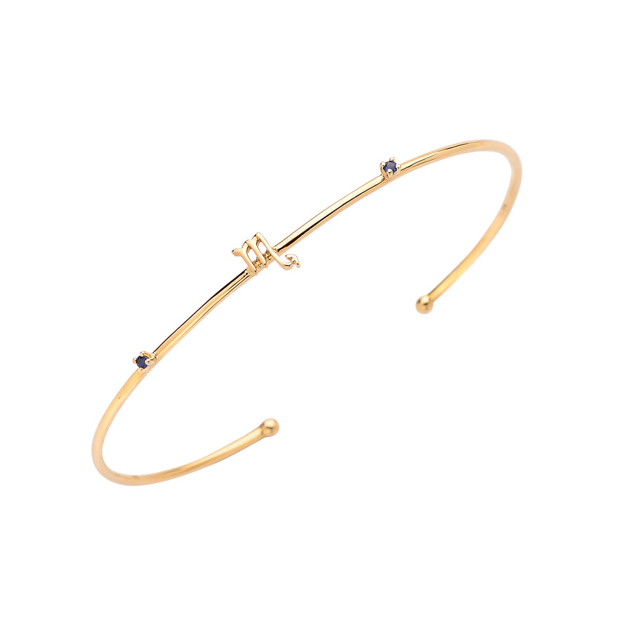 Zodiac Stone Bangle Gold