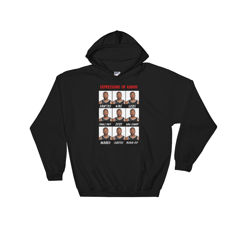 Expressions Of Kawhi Hoodie - Basketball Forever Shop