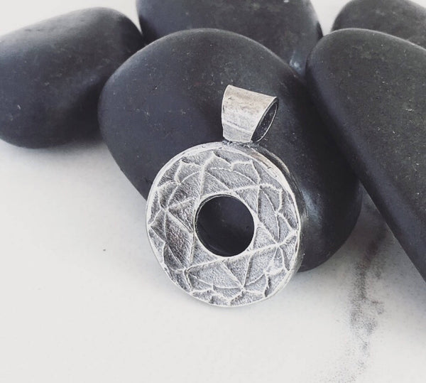 MADE TO ORDER Small Chakra Pure Silver Yoga Meditation Lotus Chakra Pendant Necklace, Pendant with Purpose, Seconds to Center, Stay Centered