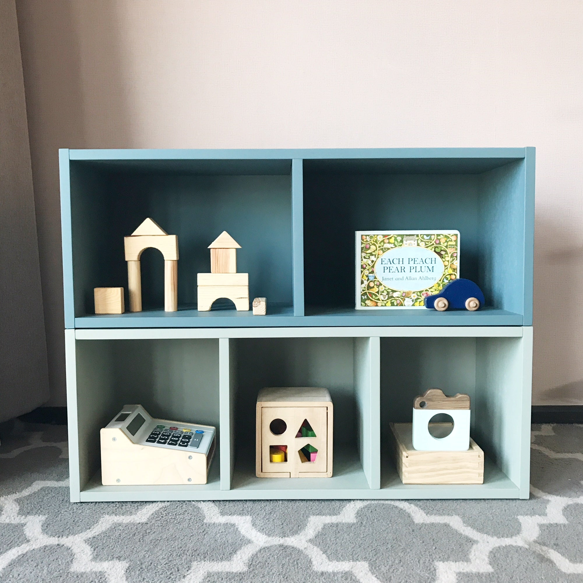 Montessori Learning Shelves (2 compartments)