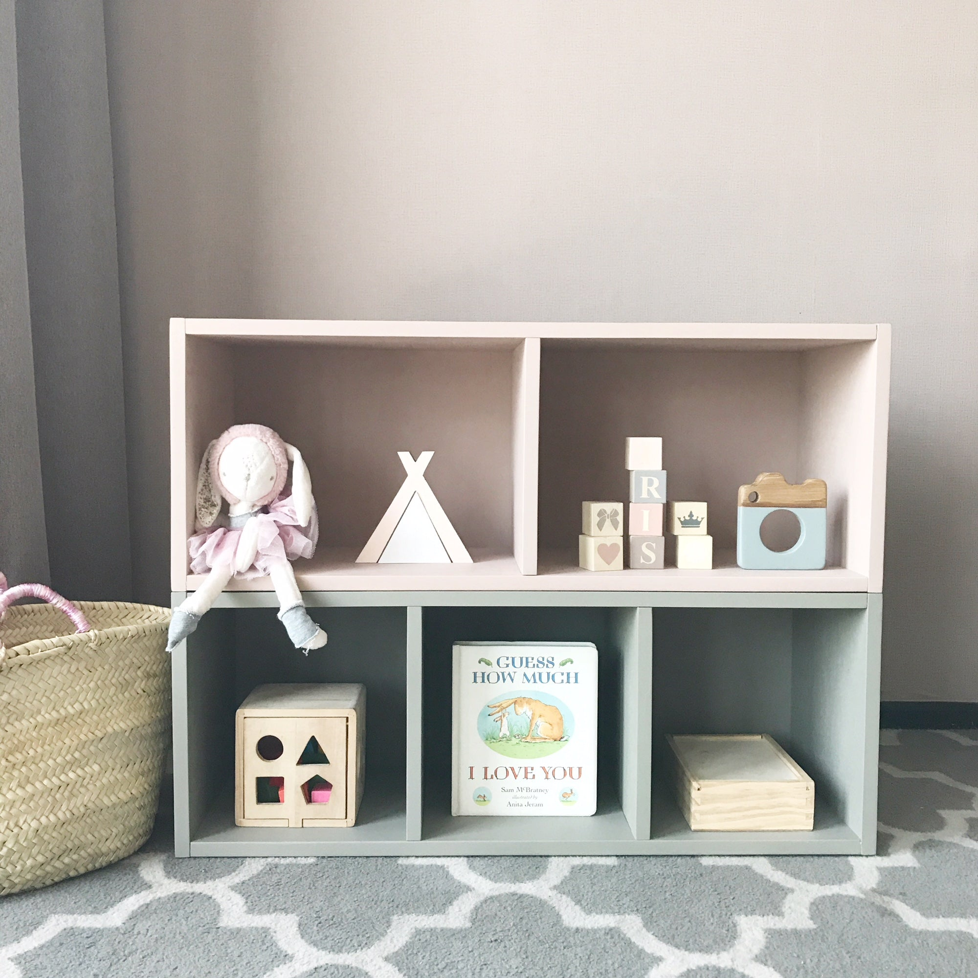 Montessori Learning Shelves (3 compartments)