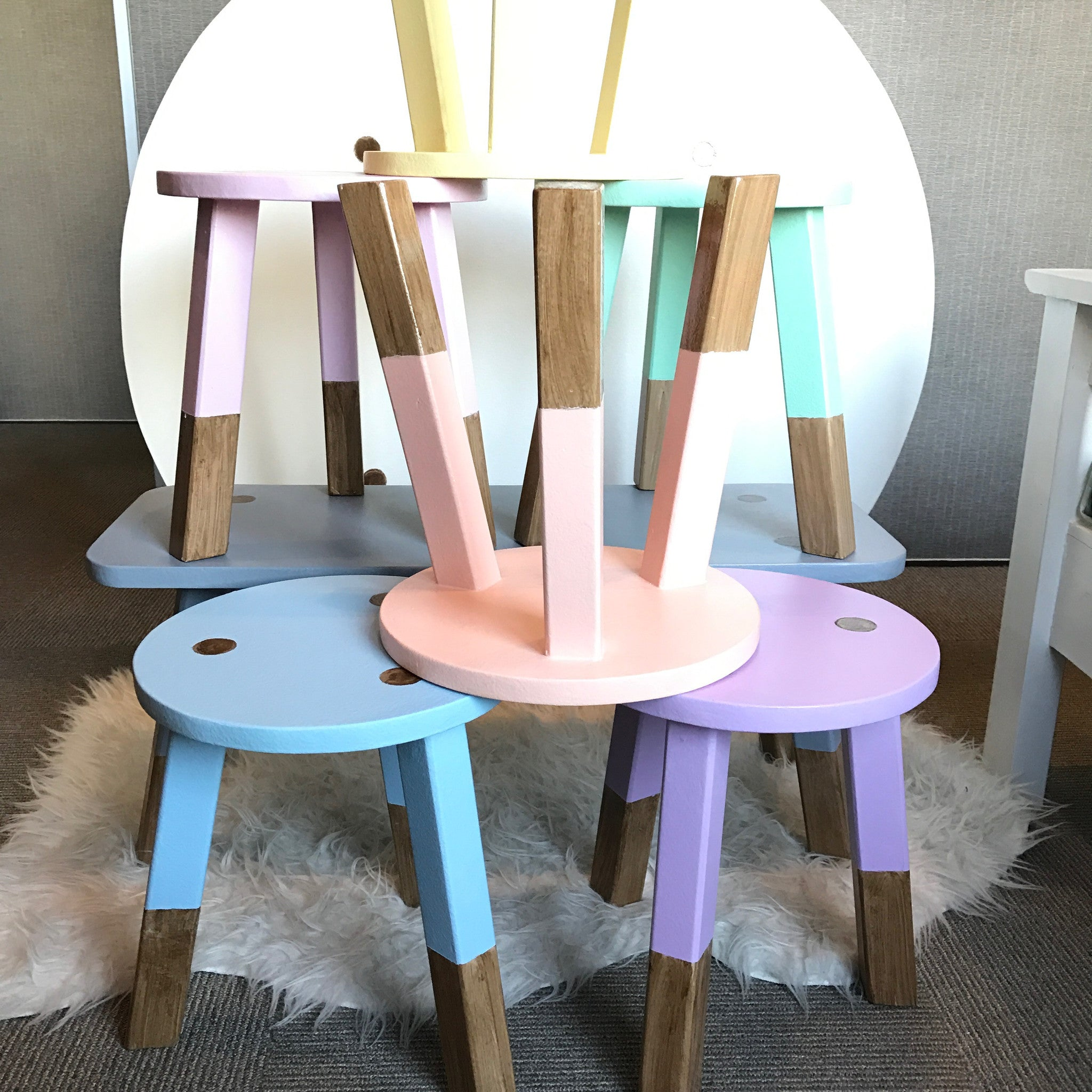 Scandi Round Table & Stools Set (PRE-ORDER)